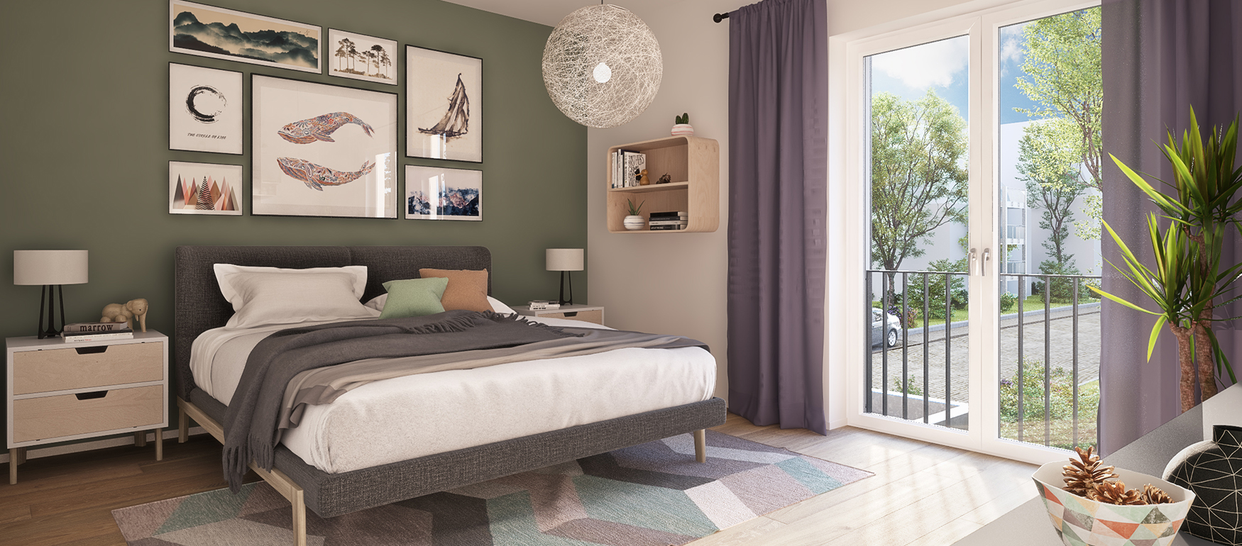 Beispiel Inneneinrichtung des Schlafzimmers